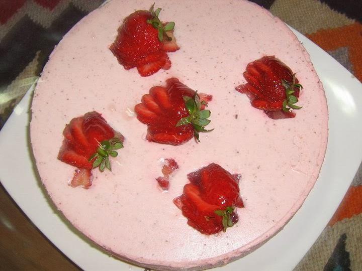Torta Bavarois de Frutilla