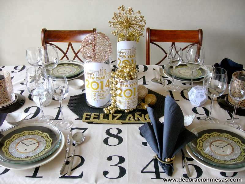 Decoracion de mesas diciembre 2013 - Decoracion mesa nochevieja ...