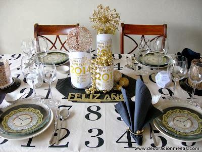 Decoracion mesas Nochevieja - Año Nuevo
