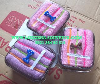 towel triple strip cake