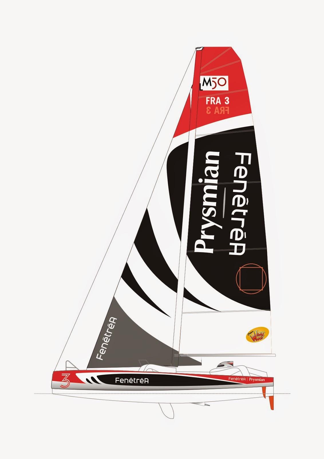 Le Multi50 FenetréA-Prysmian aux mains de Erwan Le Roux et Giancarlo Pedote