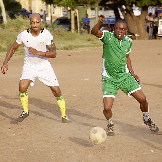 ... Osuofia, IK Ogbonna Playing Soccer With Ghanaian Movie Stars In Accra