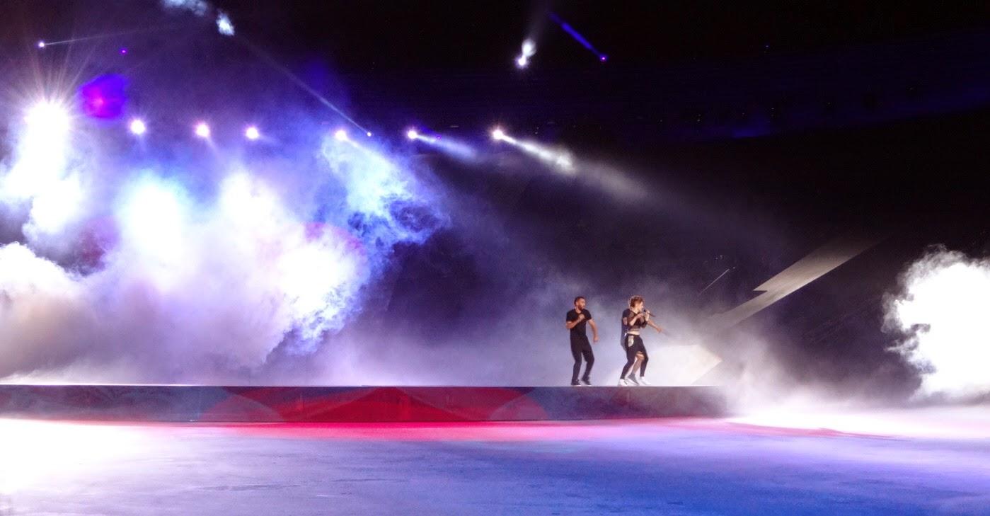 intimissimi on ice opera pop 2014, carolina kostner, stéphane lambiel, arena di verona, pattinaggio sul ghiaccio, kiesza, tv, canale 5