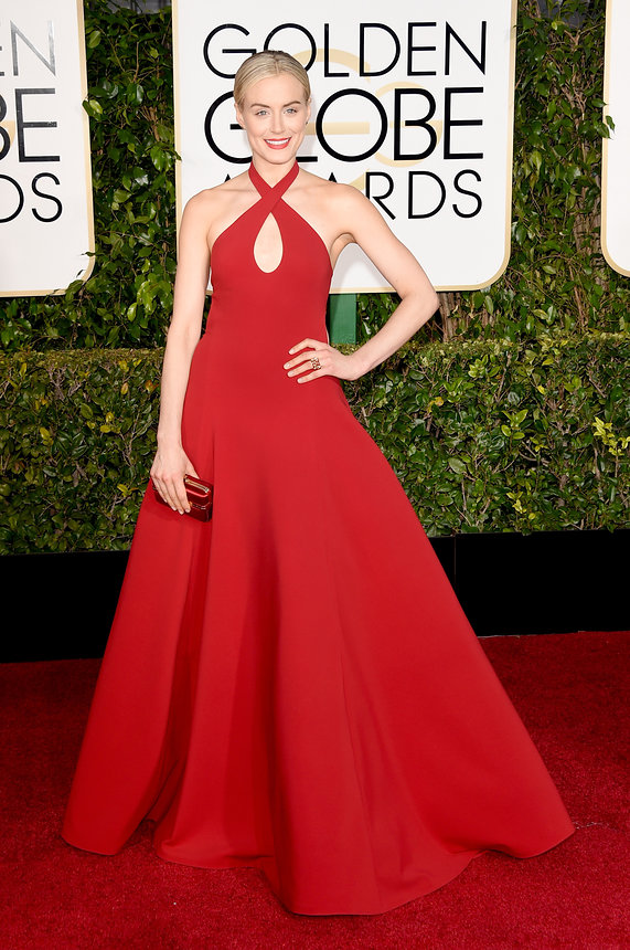 Taylor Schilling in Ralph Lauren at the Golden Globes