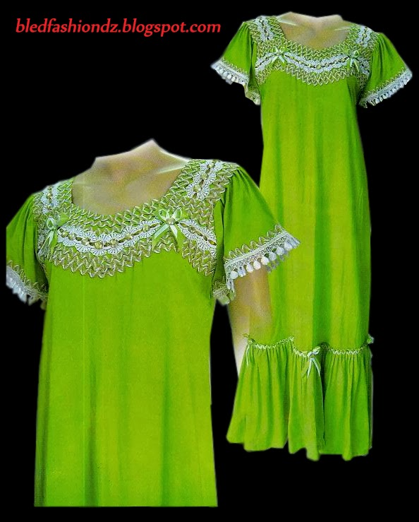 La Mode Algerienne Robe Interieure Vert