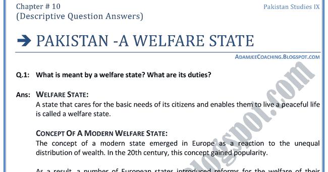 Welfare state essay