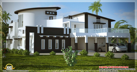 5 bedroom super luxury Indian home design