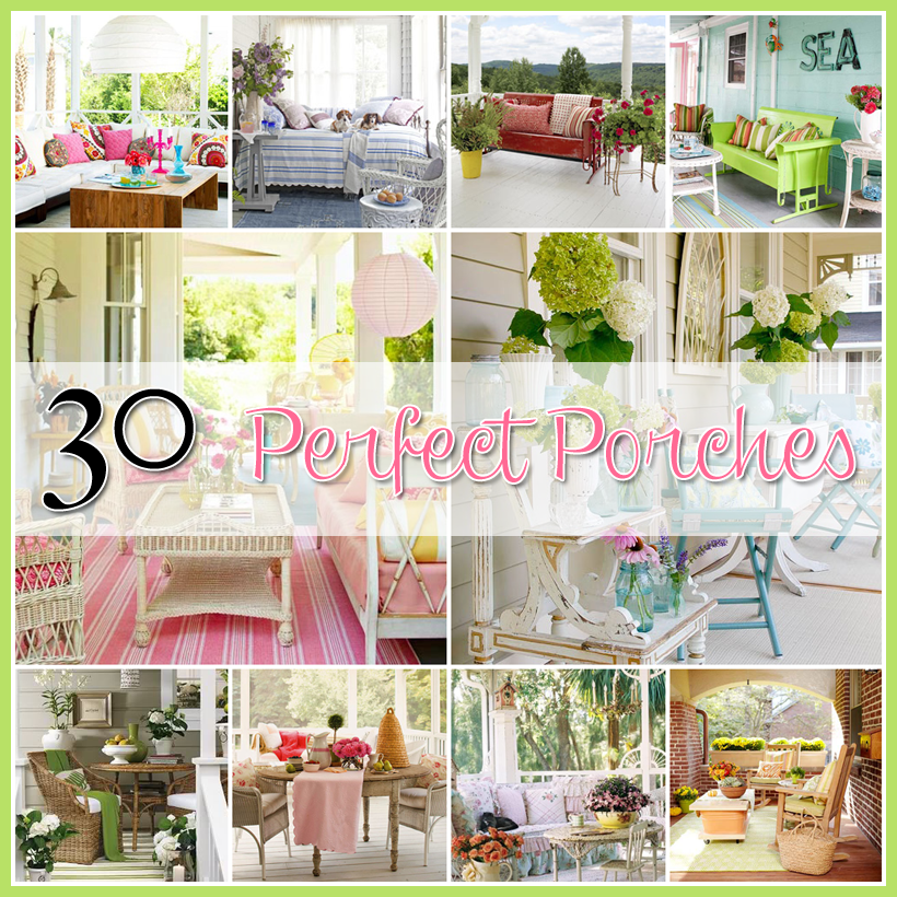 Graphic of the day and 30 perfect porches the cottage market for Shabby chic porch ideas