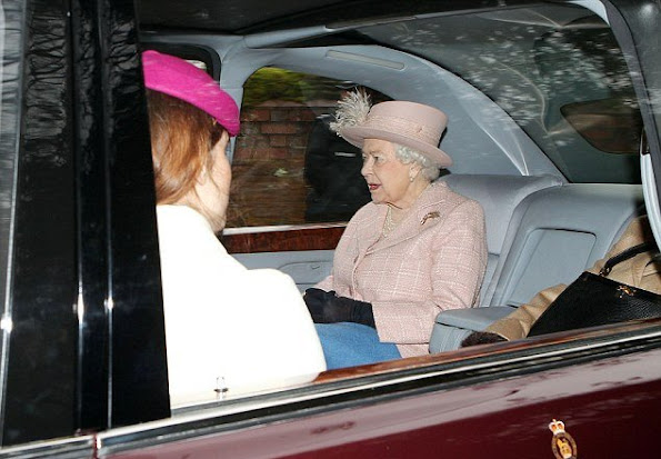 Queen Elizabeth II, Prince Philip, Duke of Edinburgh, Prince Andrew, Duke of York and Princess Eugenie of York attended Sunday service in St Mary Magdalene Church in Norfolk.