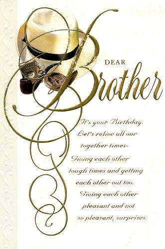 Birthday wishes for brother from brother