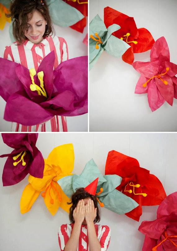 Tutorial flores gigantes de papel