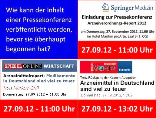 Arzneimittelverordnungs-Report 2012 Pressekonferenz