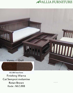 Contoh Furniture Semprot Melamine Rotan Brown