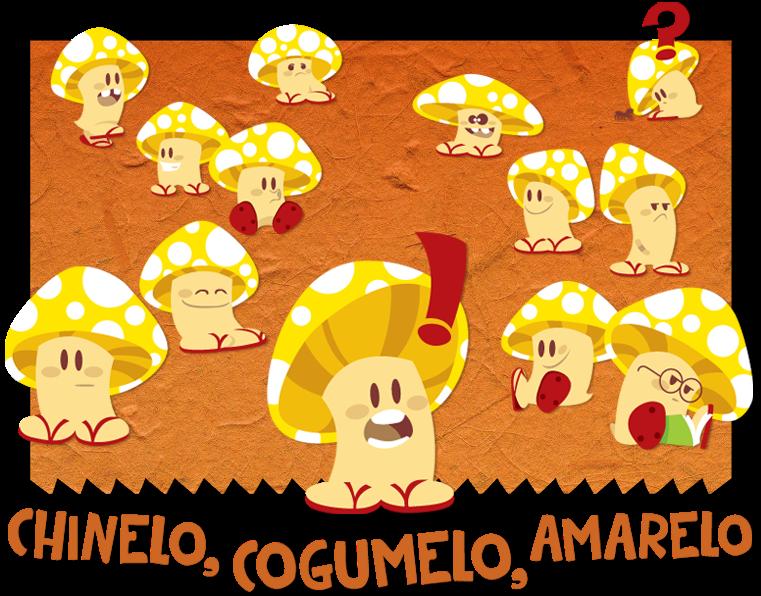 Chinelo, cogumelo, amarelo