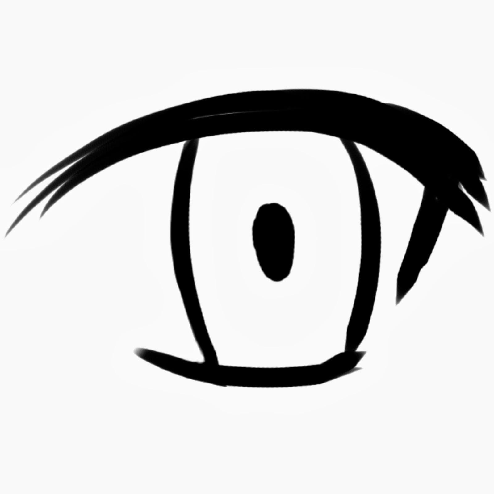 Karena ini tutorial mewarnai mata Jadi kalian harus menggambar sendiri mata anime kalian seperti contoh di atas