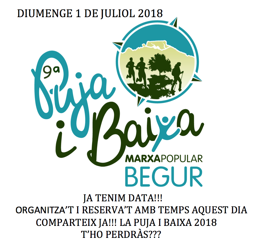 MARXA POPULAR PUJA I BAIXA BEGUR 2018