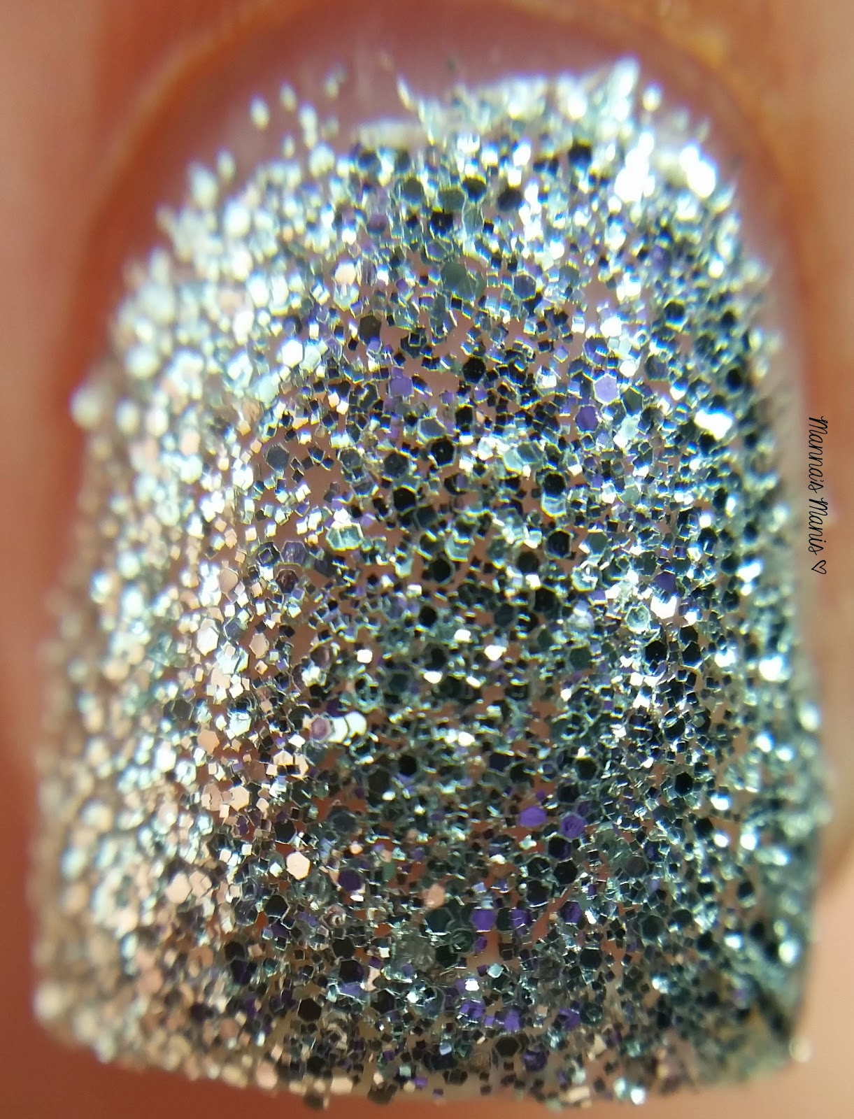 fingerpaints silver bells, a full coverage silver microglitter nail polish