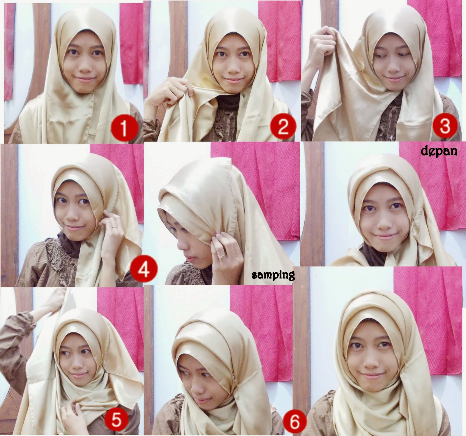 NEW TUTORIAL JILBAB SATIN SEGIEMPAT Hijab Tutorial