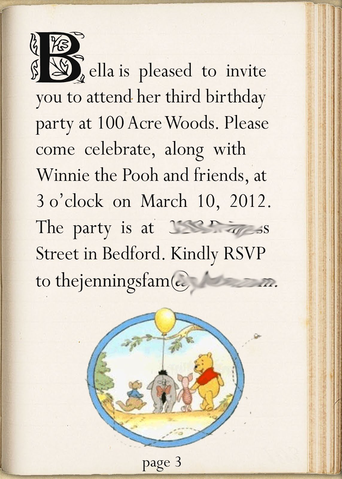 lil Mop Top: Winnie The Pooh Party