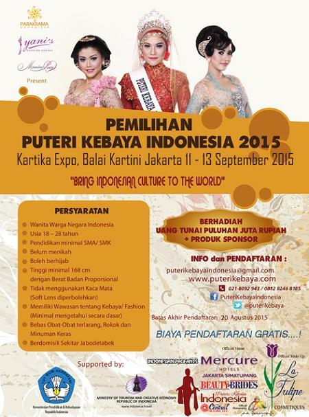 Pemilihan Puteri Kebaya Indonesia 2015
