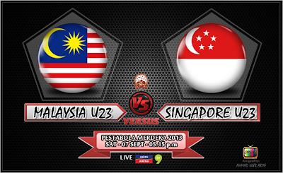 Keputusan Malaysia vs Singapura 7 September 2013 - Pesta Bola Merdeka 2013