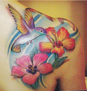 Desenhos de Tatuagens de Beija-Flor