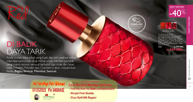 katalog oriflame agustus 2015 promo my red eau de parfum 25403