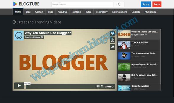 BlogTube Tema