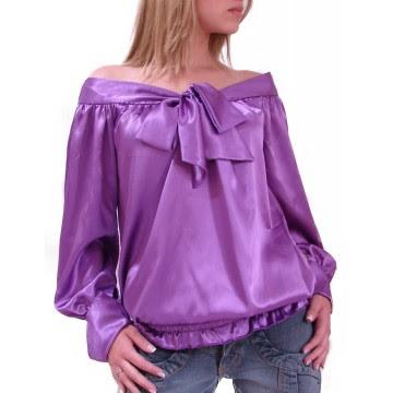 Blusas de Cetim roxa