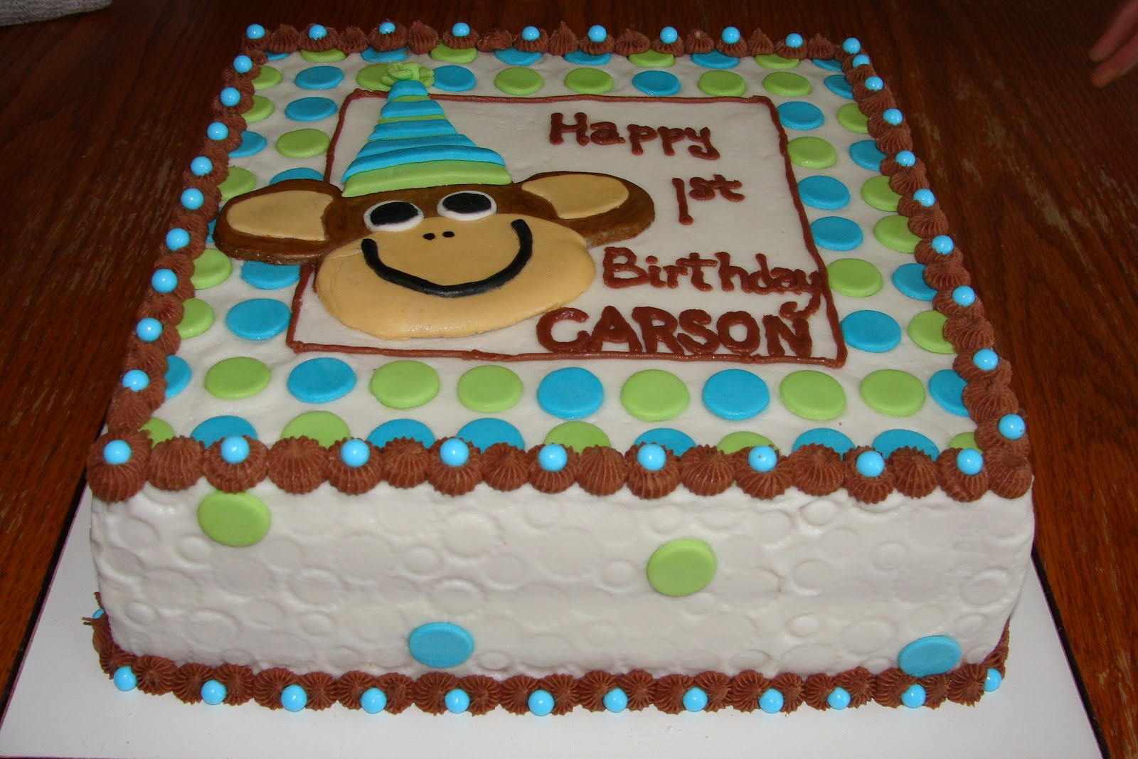 Ambers Cakes 1st Birthday Monkey Cake