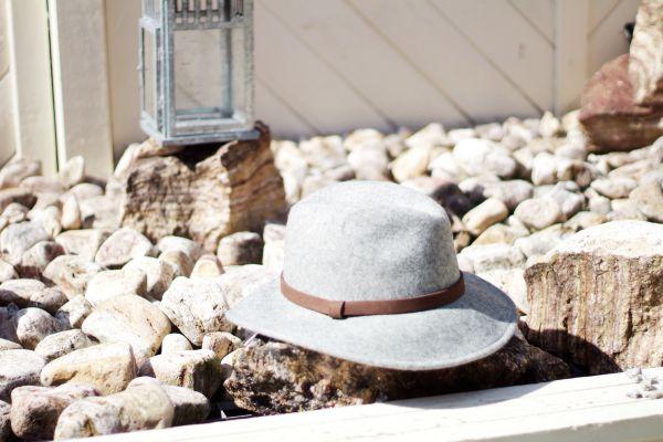 Primark grey fedora hat