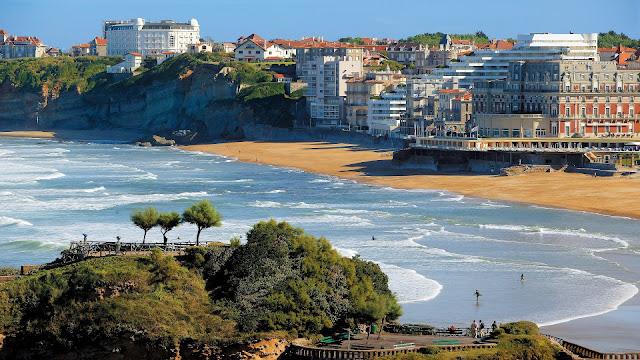 Biarritz Beach in France