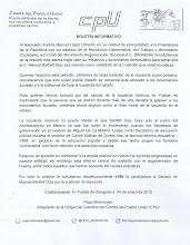 Boletín dirigido a AMLO para que vete la candidatura de Manuel Bartlett al Senado por la coalición