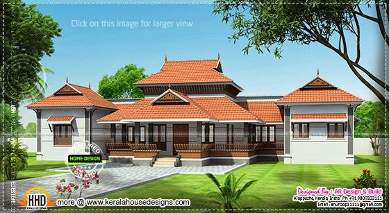 March 2014 kerala home design and floor plans for Veedu plans and elevations