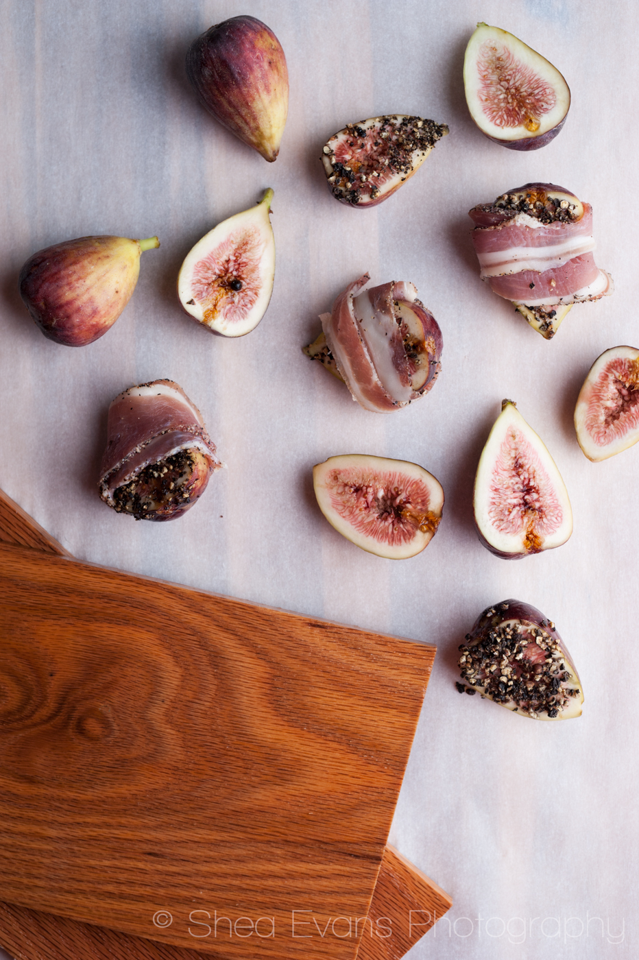 Oak Planked Figs Wrapped with Pancetta, Sprinkled with ...
