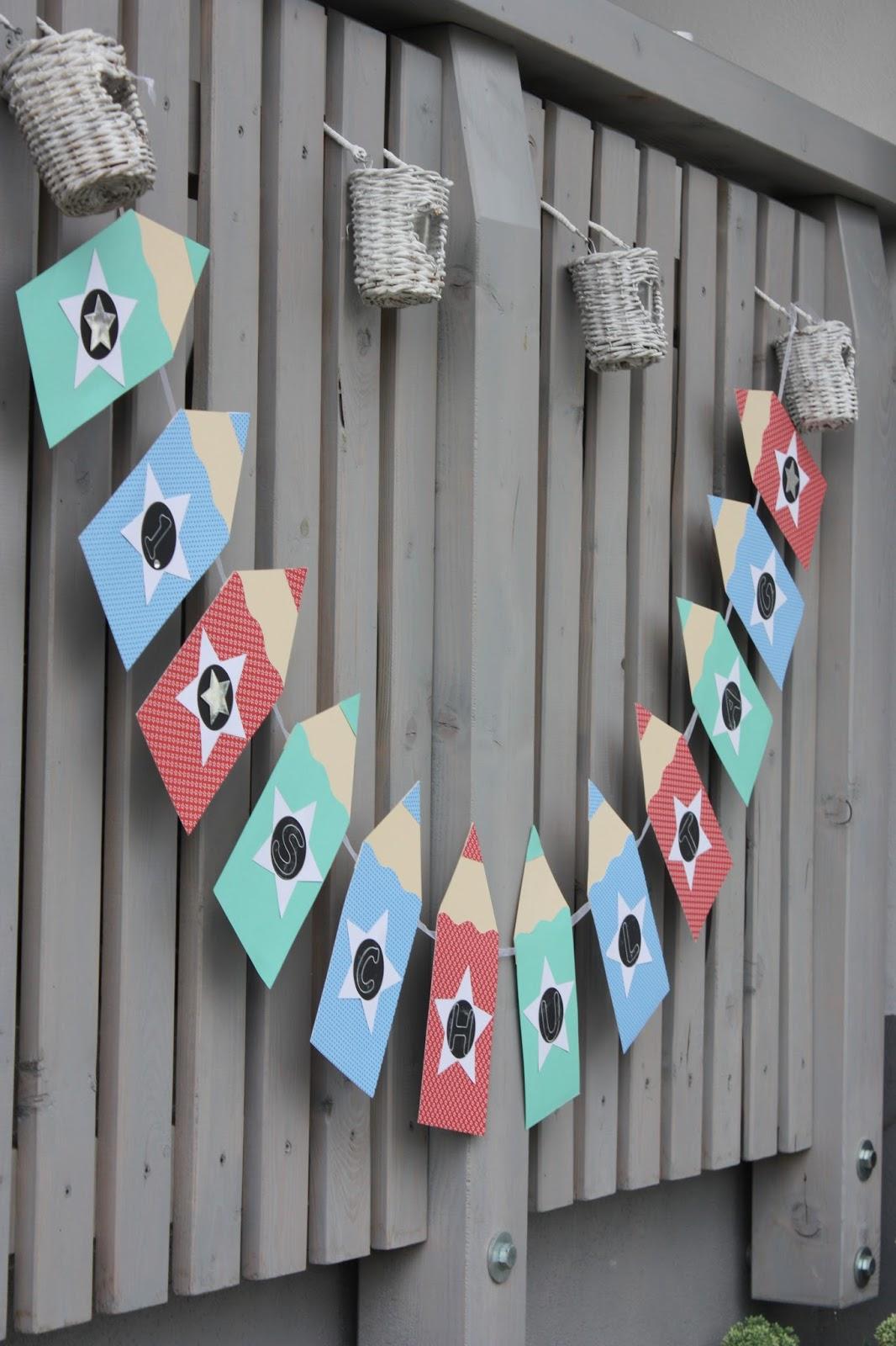 Polly kreativ 1 schultag - Einschulung deko basteln ...