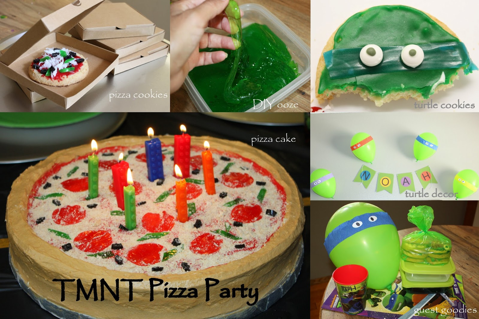 Pieces of Me TMNT birthday party