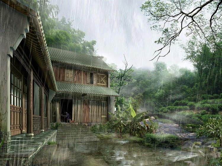 Rain in Water Painting