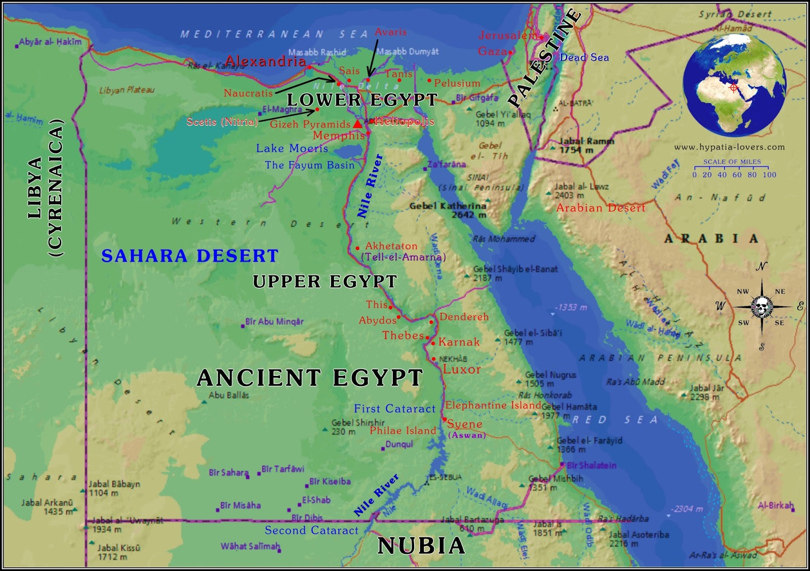Problem In Egypt Map - Map of egypt today
