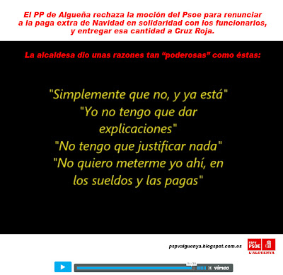 Alcaldesa Algueña Partido Popular Mari Carmen Jover Alguenya paga extra