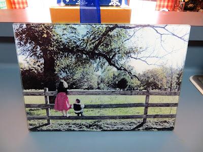 Picture Glass Cutting Board