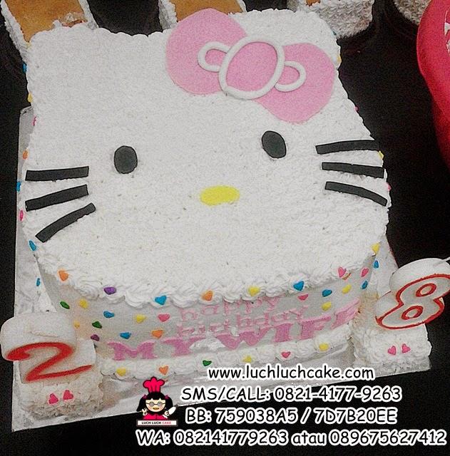 Kue Tart Hello Kitty 3D Kepala Kitty Daerah Surabaya - Sidoarjo