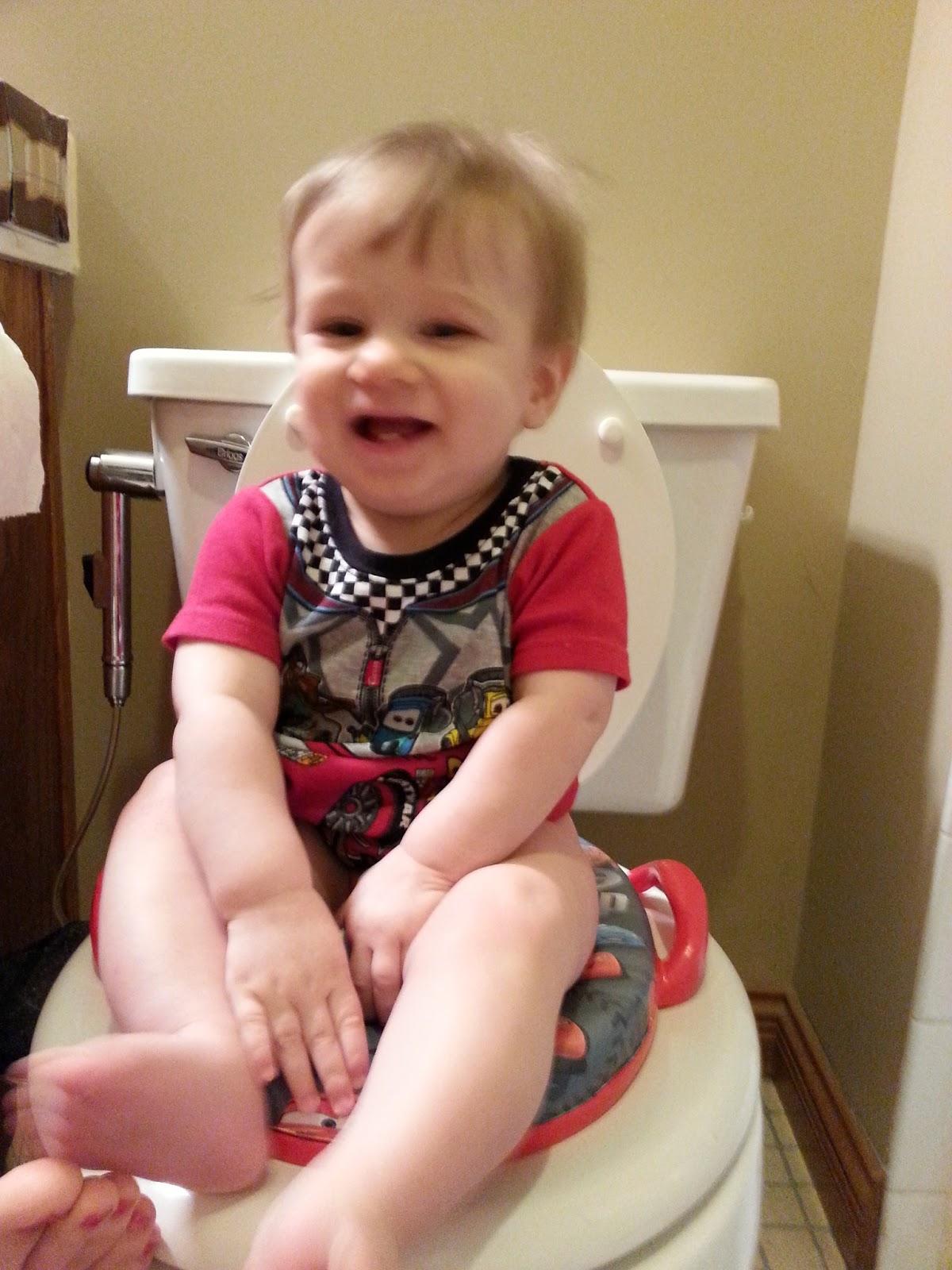 Simply Erin Infant Potty Training Baby Boy On The Potty