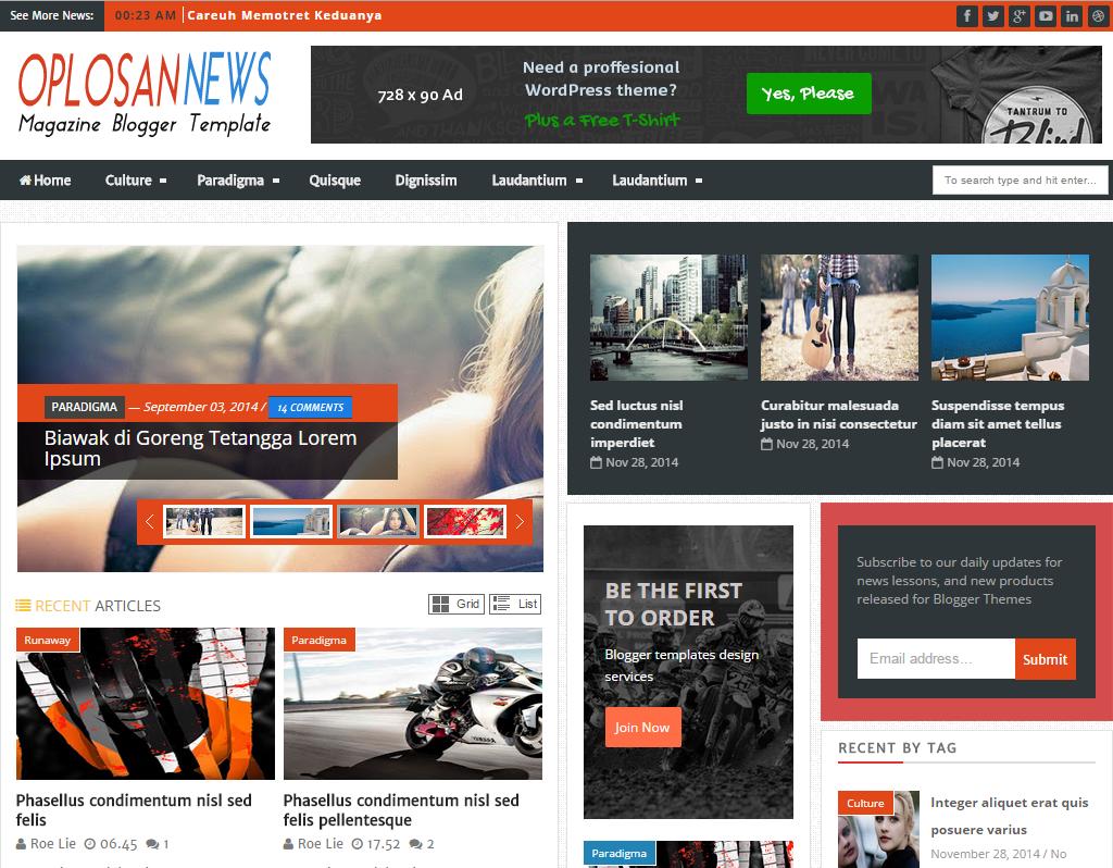 Fine Blogger Template Generator Festooning - Example Resume Ideas ...