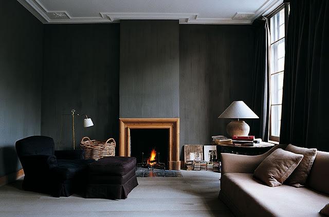 Noir blanc un style - Mur peint en noir ...