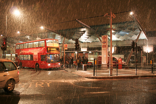 Snow at Finsbury Park