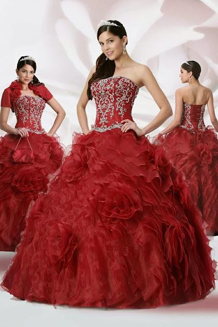 cda6f63fc Vestidos de 15 años 2014 rojos - Imagui