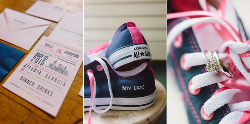 The bride ordered customized Converse shoes