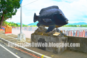Big Monument or Giant Statue of Tilapia in Sampaloc Lake San Pablo Laguna