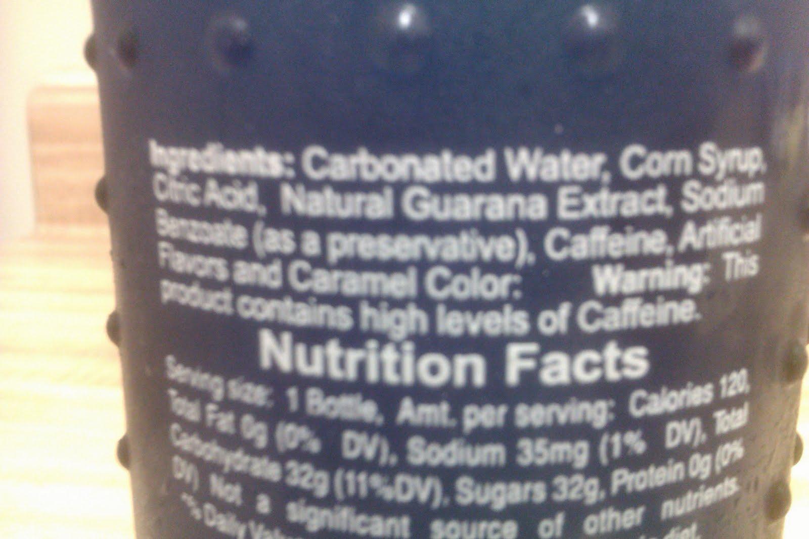 Bawls Energy Drink Ingredients